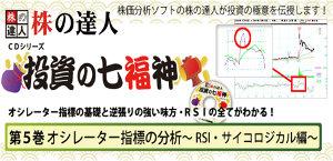 株の達人CDシリーズ第5巻 オシレーター指標の分析〜RSI・サイコロジカル編〜